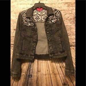 Tinsel town Denim couture light weight jean jacket